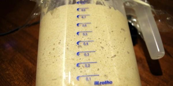 Angesetzt bei 0.2 L, Vervierfachung des Volumens innert 6 Stunden